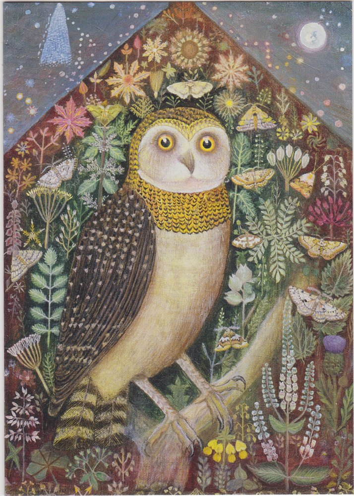 An Owl in the Starry Night and a Lost Friend