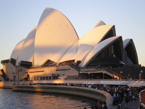 exterior view of opera house