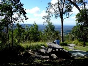 picnic table at Jolly's Lookout May 2012