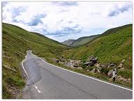 road through Cambrian Mountains