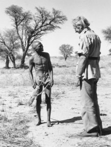 Sir Laurens Van Der Post with bushman