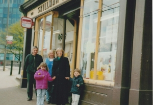 The original Skillman's of Woolwich in 2002. Chris Skillman,former MD, is on the left of the group