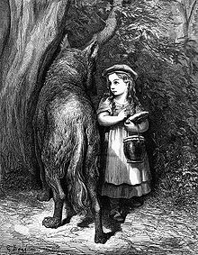 Little Red Riding Hood and the Wolf by Gustave Dore
