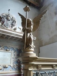 Angel in the church at Morton Bagot (photo credit: Julia Gardner)