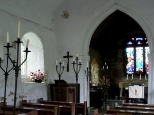Interior of church at Morton Bagot (photo credit: Julia Gardner)