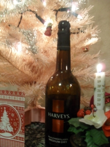 Candle, Christmas tree and sherry