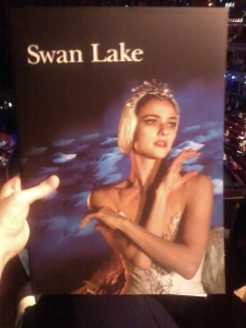 Programme for Swan Lake performance 23 June 2013