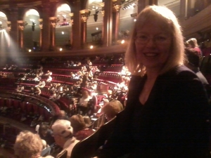 Sheil in the Royal Albert Hall auditorium (photo credit: Abigail Robinson)