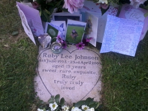 Ruby Johnson 18th birthday memorial (photo credit: Abigail Robinson)