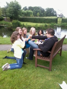 The young people having fun at Swanwick (photo credit: Jamie Robinson)