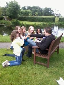 The young people having fun at Swanwick (photo credit: Jamie Robinson)