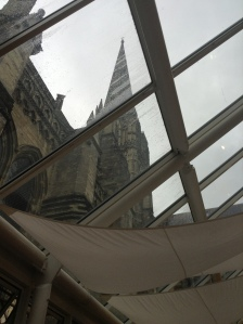Another view of the spire of Salisbury Cathedral (photo credit: Jamie Robinson)