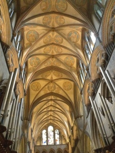 The chancel roof of Salisbury Cathedral (photo credit Jamie Robinson)