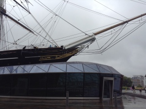 The Cutty Sark uplifted (photo credit: Jamie Robinson)