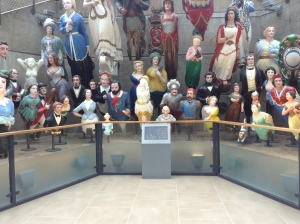 Collection of ships' figureheads at the Cutty Sark (photo credit: Jamie Robinson)