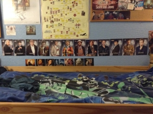 Doctor Who display in teen bedroom (photo credit Abigail Robinson)