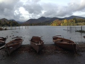 Boats beside Derwentwater (photo credit Abigail Robinson)