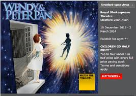Wendy and Peter Pan at the Royal Shakespeare Theatre Stratford-upon-Avon