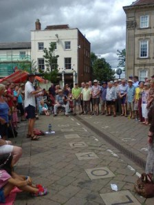 Bruce Knight conducts the Warwick Folk Festival
