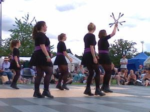 dancers at the Warwick Folk Festival (photo credit Abigail Robinson)