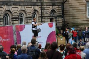 Street entertainment on the Royal Mile, Edinburgh Fringe Festival - photo credit Abigail Robinson