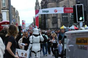 On the Royal Mile, Edinburgh - The Fringe (photo credit Abigail Robinson)