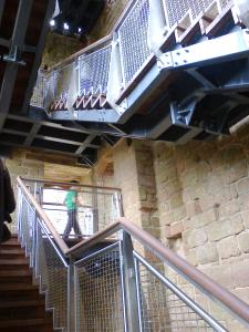 New staircase at Leicester's Building Kenilworth Castle completed Aug 2014 - photo credit SC Skillman