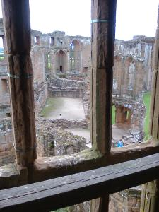 views can be seen now through the windows for the 1st time in 350 years - Leicester's Building Kenilworth Castle - photo credit SC Skillman