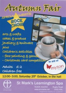 Autumn Fair St Marks Leamington Spa 25 October 2014
