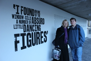 Sheila & Jamie at the Sherlock exhibition, Museum of London
