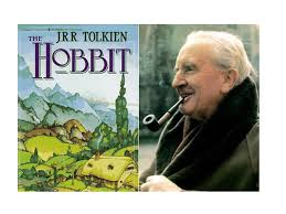 The Hobbit 1st published 1937 and its author JRR Tolkien