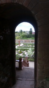 View from the Keep into the Elizabethan Garden at Kenilworth Castle