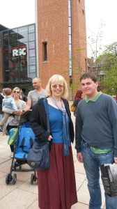 Sheila and Jamie in Stratford upon Avon