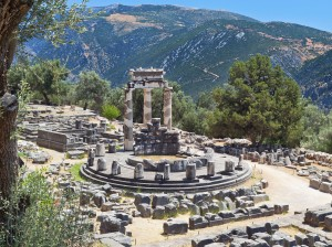 The Temple of Apollo, Delphi, Greece