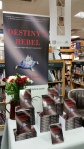 """Display for """"Destiny's Rebel"""" at Philip Davies' book launch"""