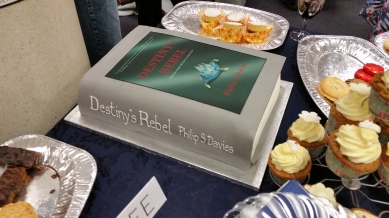 Celebration book launch cake - Destiny's Rebel