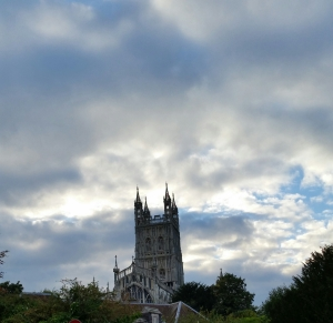 A view of Gloucester Cathedral