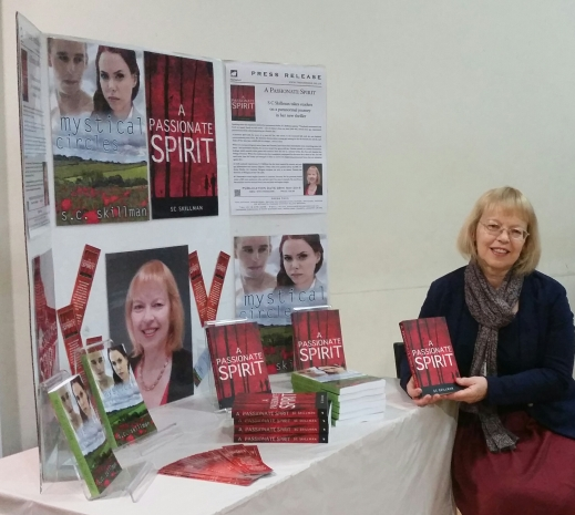 Sheila beside stall at Princethorpe college Christmas fair 2015 image 1.jpg