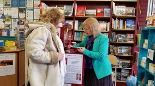 APS & author SC Skillman signing book for a buyer Sat 13 Jan 2016