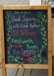 APS sign outside Kenilworth Books 13 Feb 2016
