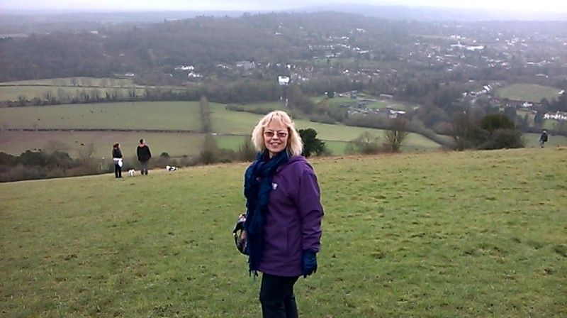 Author Sheila Skillman at Box Hill, Surrey, January 2016