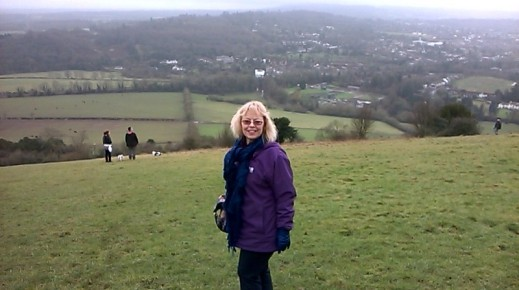 Author Sheila Skillman at Box Hill, Surrey, January 2016
