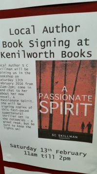 Promo poster for book signing 8 Feb 2016