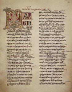 preface to St Mark's Gospel, Lindisfarne Gospels