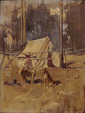 Picture of an Australian swagman by George Washington Lambert - Sheoak Sam, 1898