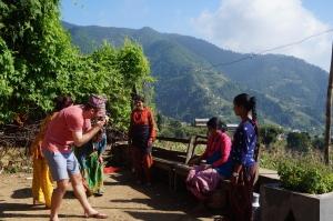 people in rural village in Nepal