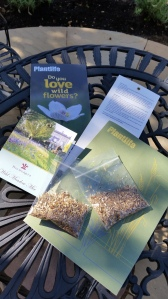 Highgrove wildflower seeds and Plantlife leaflet with instructions to plant a wildflower meadow