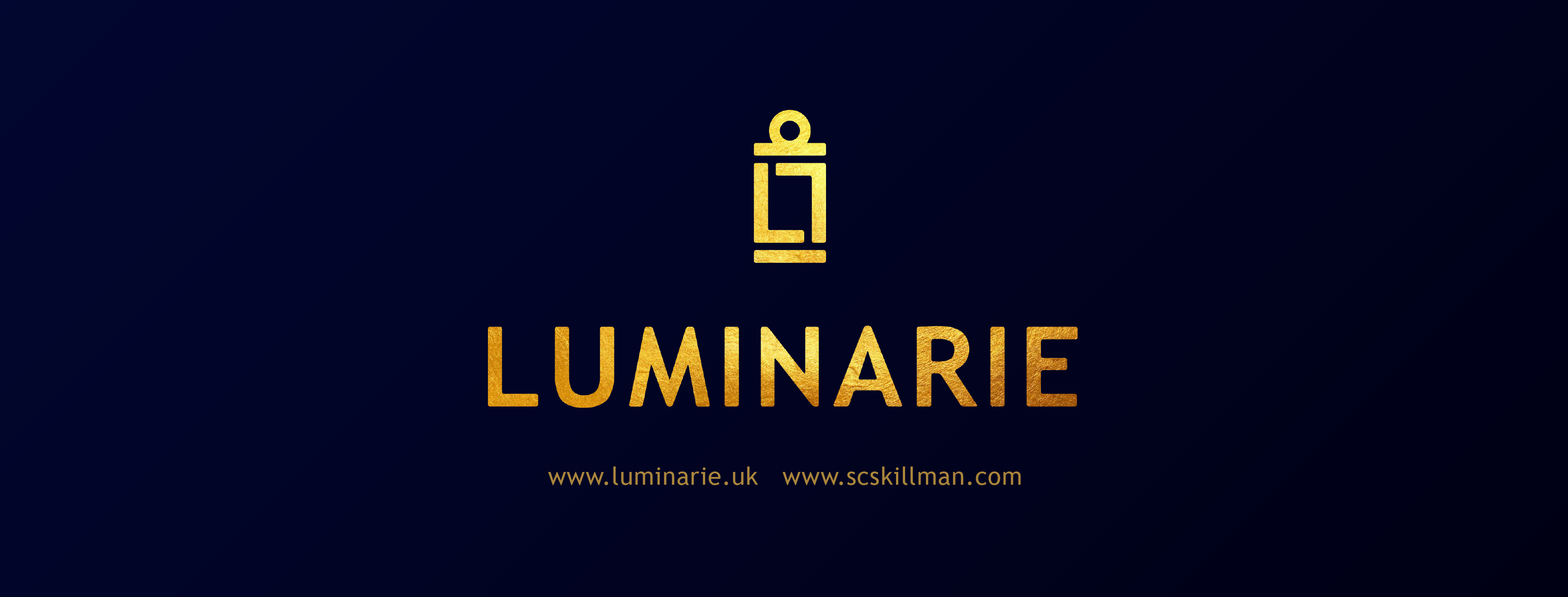 Logo and brand-name for Luminarie publishing company www.scskillman.com; www.luminarie.uk