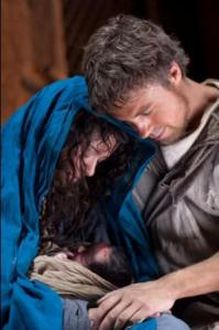 Tatiana Masleny as Mary and Andrew Buchan as Joseph in The Nativity film 2010