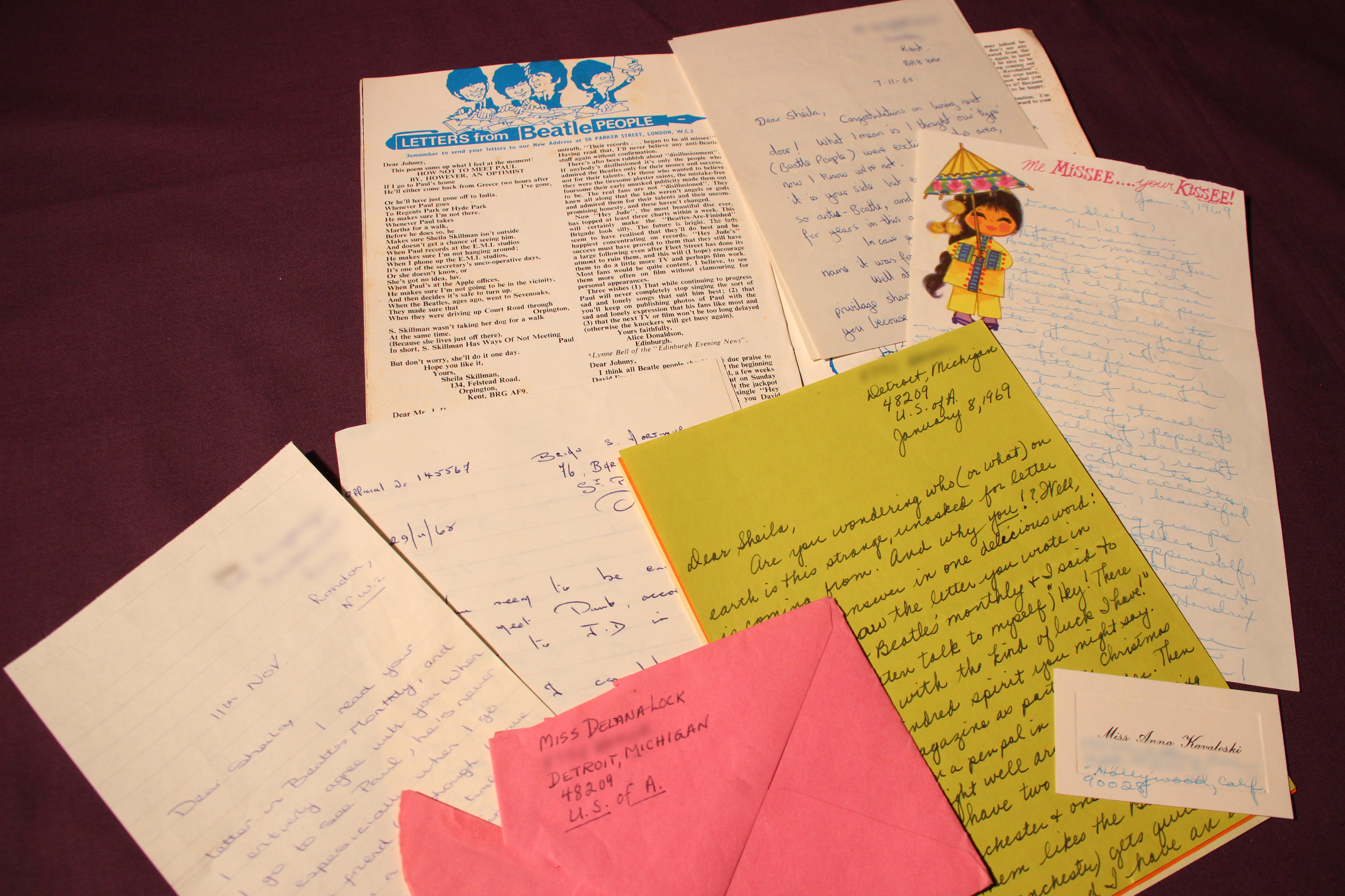 A selection of letters from Beatles fans responding to a poem by SC Skillman printed in Beatles Monthly magazine no. 64